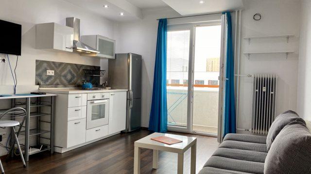 Na predaj 1 izbový byt s loggiou, Bratislava, Nové Mesto, Račianska ulica